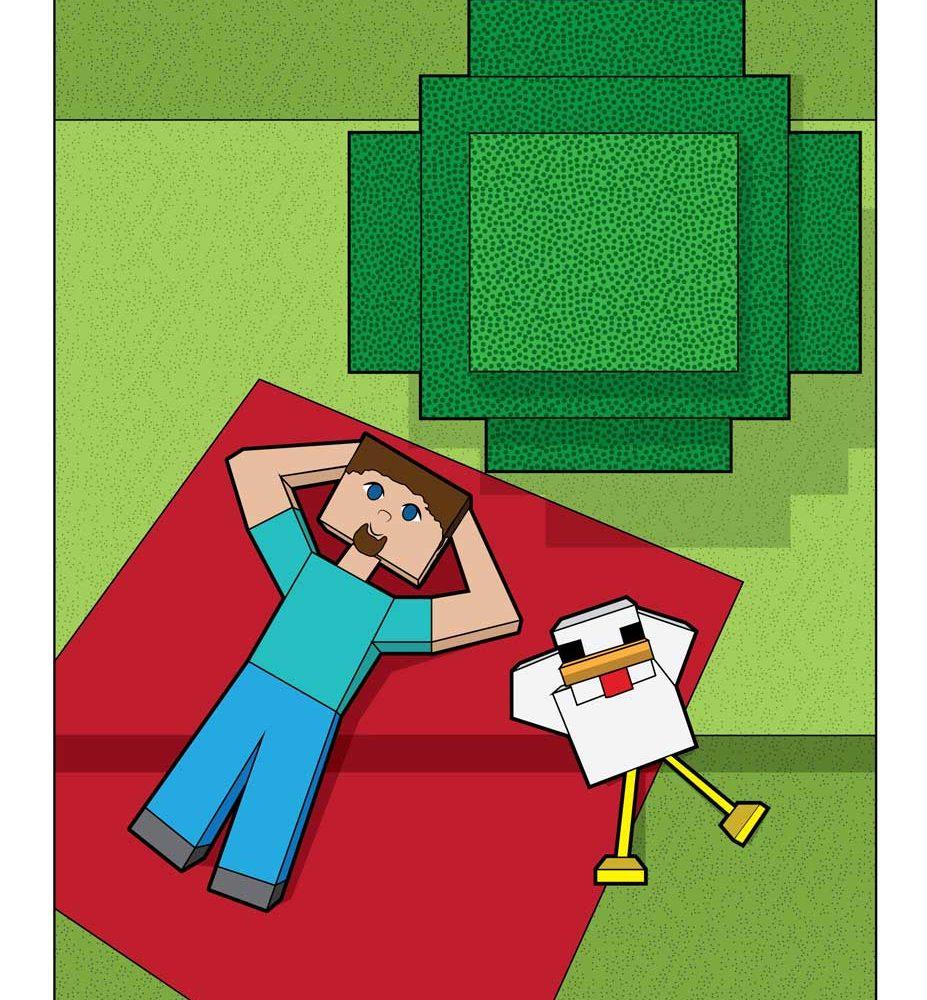 Minecraft Steve Adventures Illustration and Design